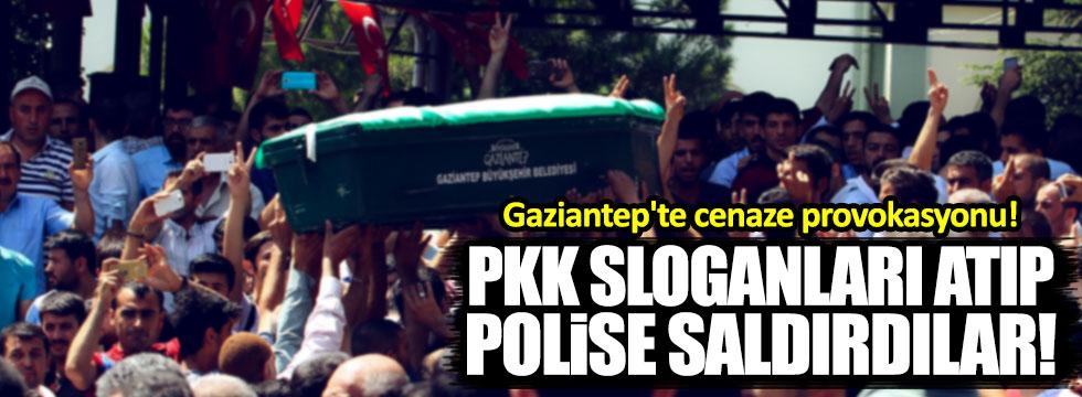 Gaziantep'teki cenaze namazında PKK provokasyonu