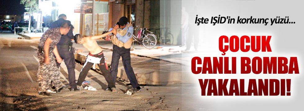 Irak'ta çocuk canlı bomba böyle yakalandı!