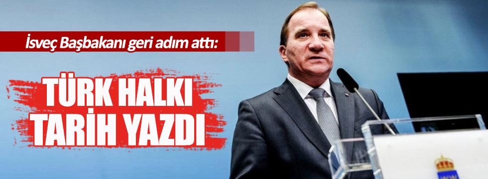 İsveç Başbakanı'ndan geri adım: Türk halkı tarih yazdı