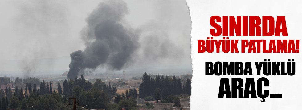 Karkamış'a yakın sınırda büyük patlama