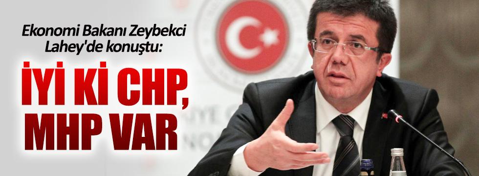 Bakan Zeybekci: İyi ki CHP, MHP var