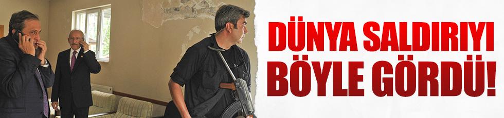 Dünya CHP lideri Kılıçdaroğlu'na yapılan saldırıyı böyle gördü