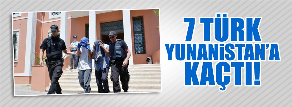 7 Türk daha Yunanistan'a kaçtı