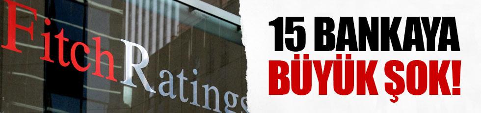 Fitch Ratings 15 Türk bankasının kredi notlarını düşürdü