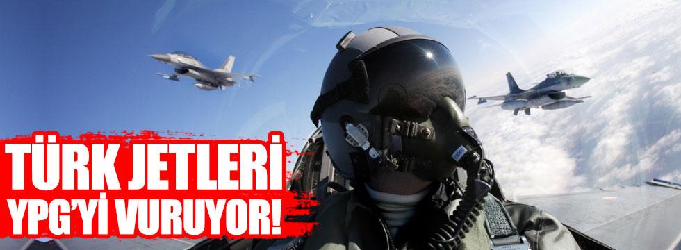 Türk jetleri YPG'yi vuruyor