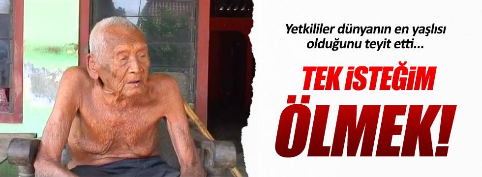 Dünyanın en yaşlı insanından ilginç istek!