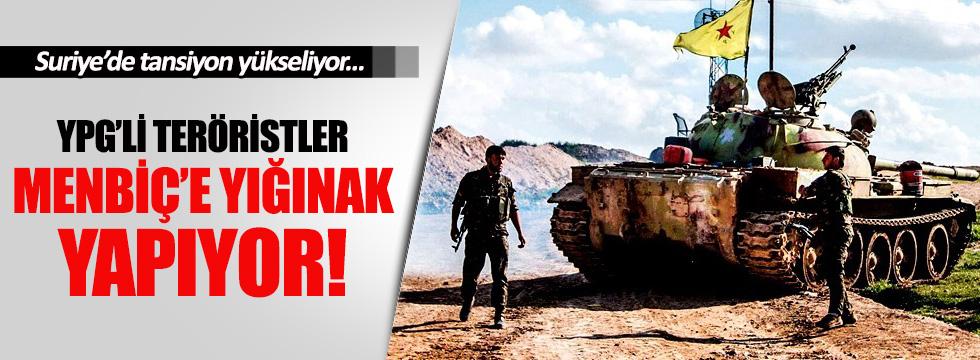 YPG, Menbiç'e mühimmat ve personel taşıyor