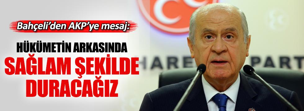Bahçeli: MHP Hükümetin arkasında sağlam şekilde duracak