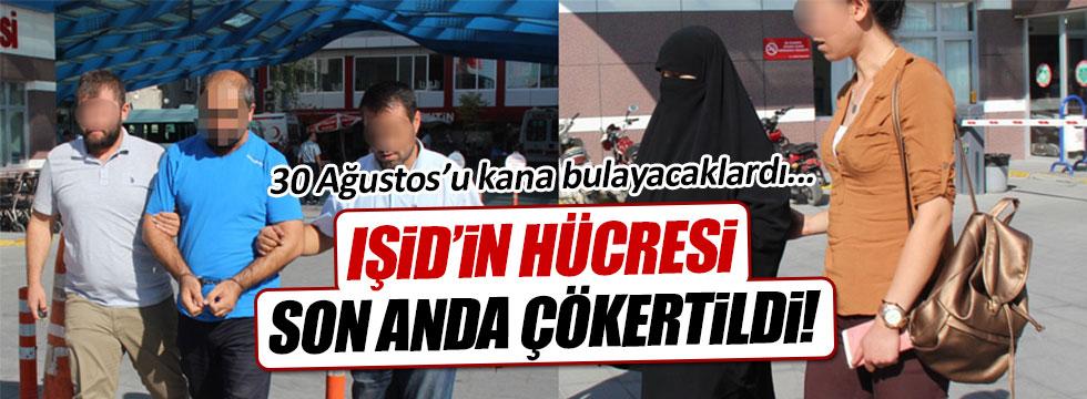 Törenlerde eylem hazırlığında olan 14 IŞİD'li yakalandı!