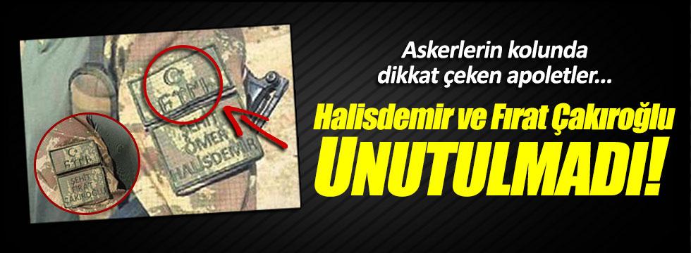 Fırat Çakıroğlu ve Halisdemir için Göktürkçe apoletler takıldı!