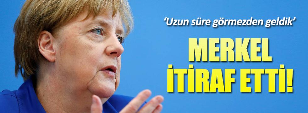 Merkel'den mülteci politikası itirafı!