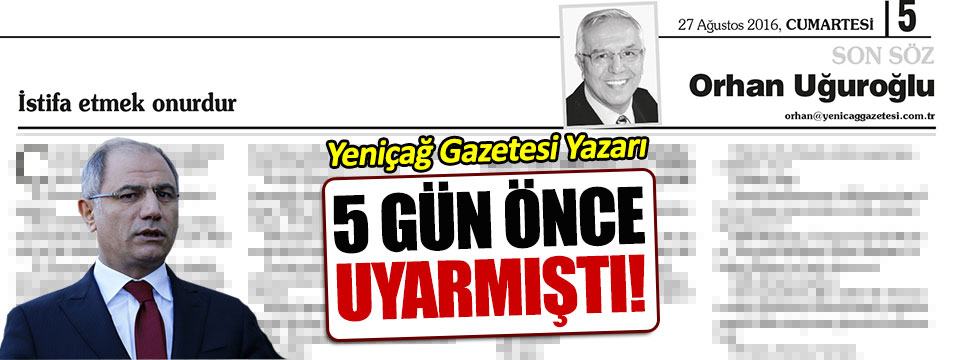 Orhan Uğuroğlu, Efkan Ala'yı böyle istifaya çağırmıştı!