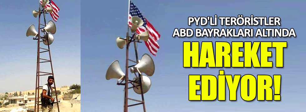 PYD, ABD bayrağını kalkan olarak kullanıyor
