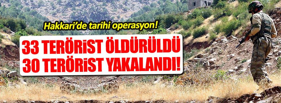Hakkari'de 30 PKK'lı öldürüldü