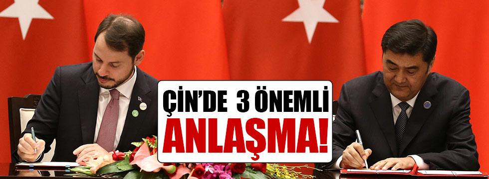 Türkiye ile Çin arasında üç anlaşma imzalandı