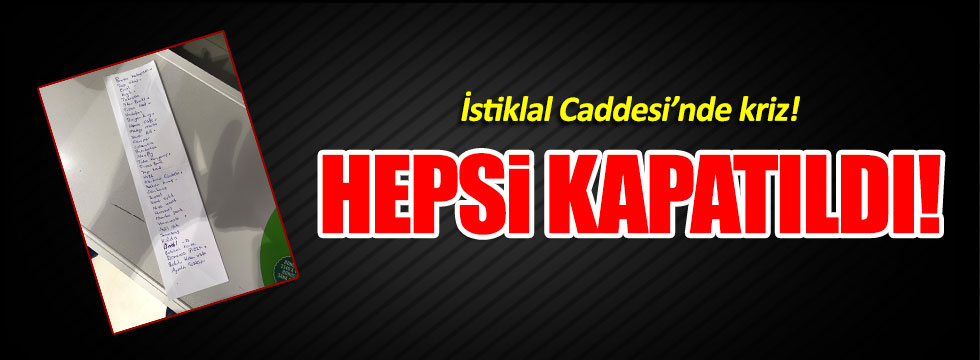 CHP'li Erdoğdu'dan Taksim'de kapanan mağazaların listesi