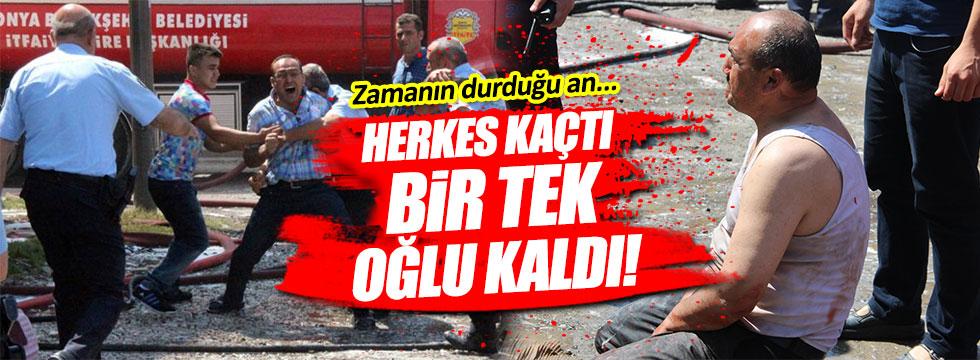 Konya'da korkunç ölüm!