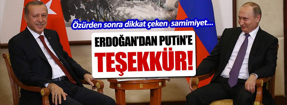 Erdoğan'dan Putin'e Charter teşekkürü