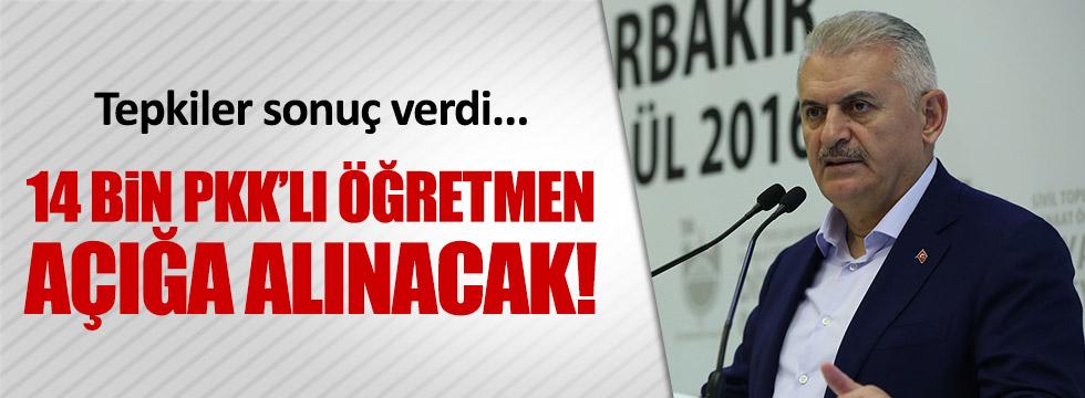 Başbakan: 14 bin PKK'lı öğretmen açığa alınacak