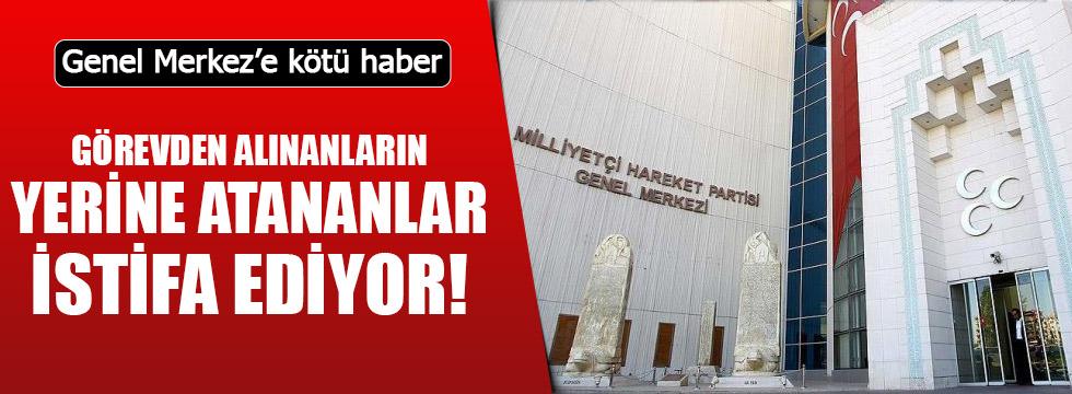 MHP Genel Merkezinin atadığı il başkanı istifa etti