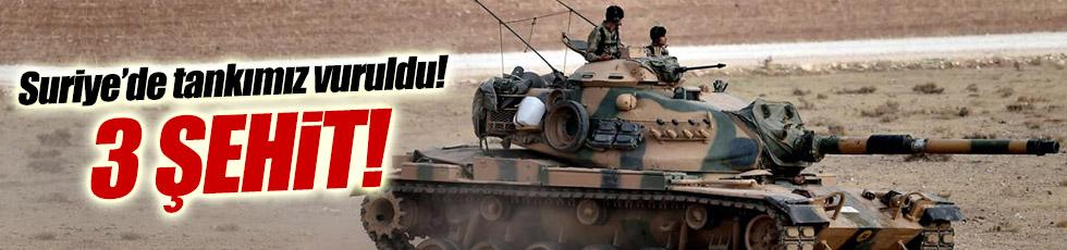 Suriye'de tankımız vuruldu! 3 asker şehit
