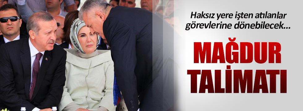 Erdoğan'dan Yıldırım'a mağdur talimatı