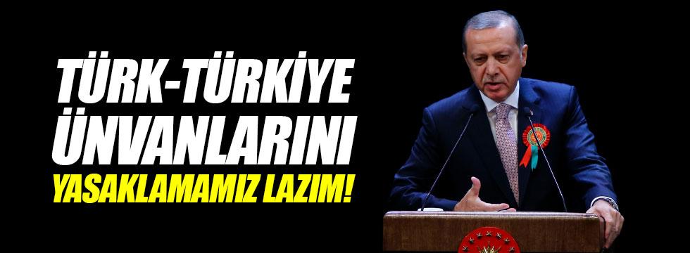 Erdoğan Beştepe'de valilere seslendi