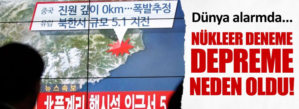 Nükleer denemesi depreme yol açtı