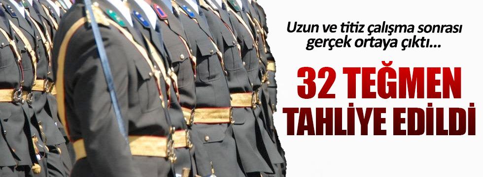 32 teğmen tahliye edildi