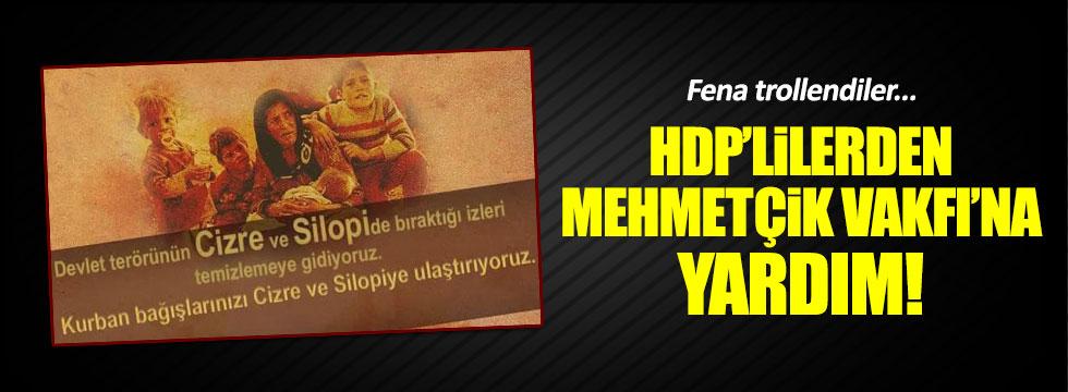 HDP'lilere Mehmetçik Vakfı trollü