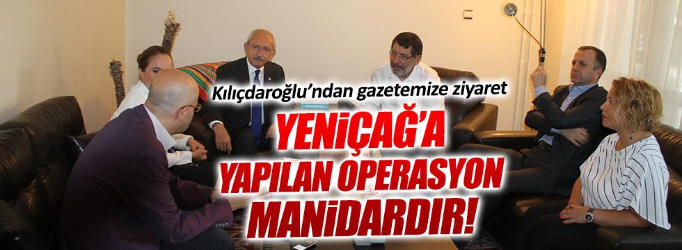 Kılıçdaroğlu, Yeniçağ'a kurulan kumpası değerlendirdi