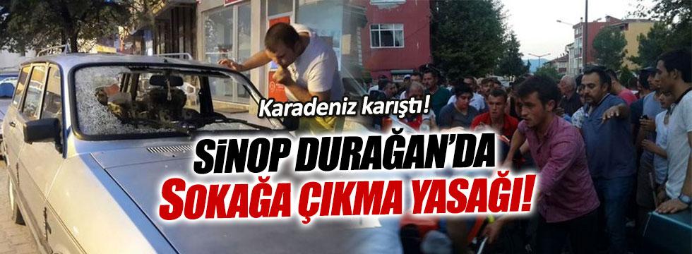 Sinop'un Durağan İlçesi'nde sokağa çıkma yasağı ilan edildi