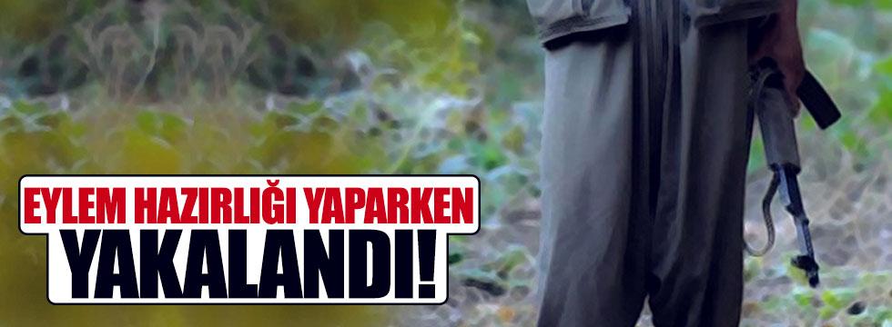 Saldırıya hazırlanan PKK'lı yakalandı