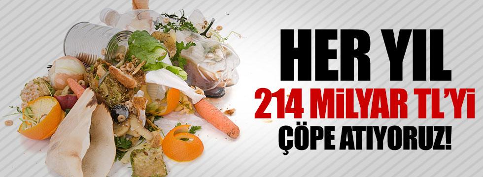 Her yıl 214 milyar lirayı çöpe atıyoruz