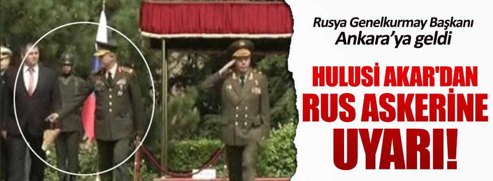 Rusya Genelkurmay Başkanı Genelkurmay Karargahı'nda
