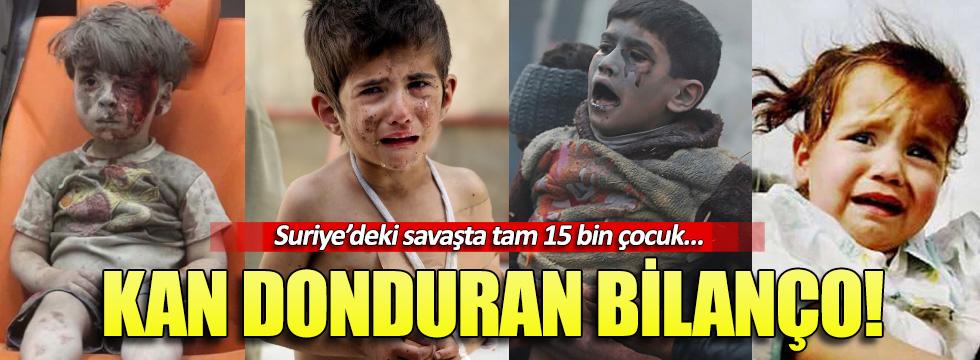 Suriye'deki savaşta 15 bin çocuk can verdi
