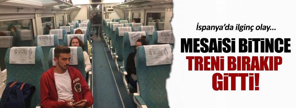 İspanya'da mesaisi biten makinist, treni bırakıp gitti