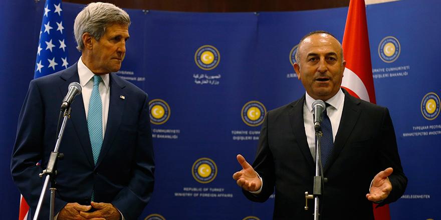 Çavuşoğlu, ABD Dış İşleri Bakanı Kerry ile görüştü