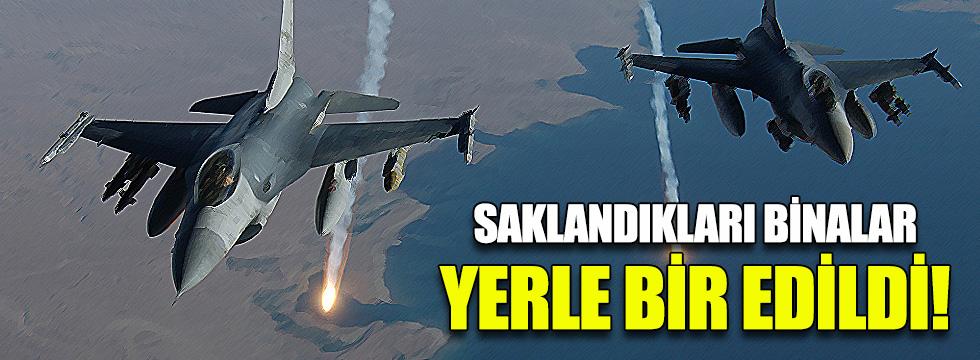 Savaş uçakları yine bombaladı