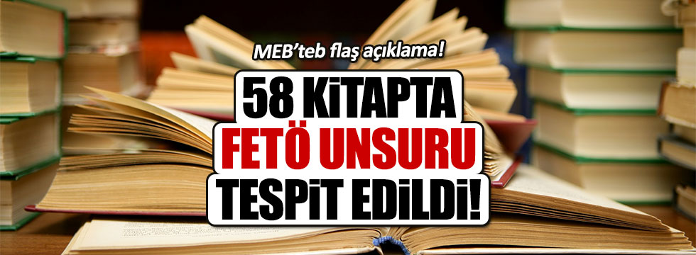MEB: 56 kitapta FETÖ unsuruna rastlandı