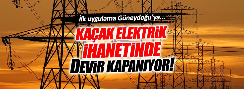 Kaçak elektrik ihanetine engel geliyor