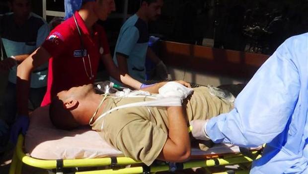 Suriye'de bir askerimiz yaralandı