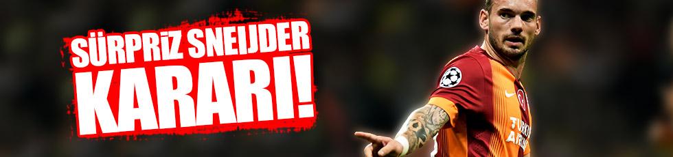 Galatasaray'dan flaş Sneijder kararı!