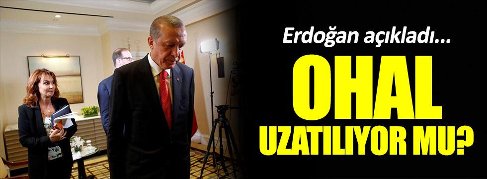 Erdoğan'dan kritik 'OHAL' açıklaması