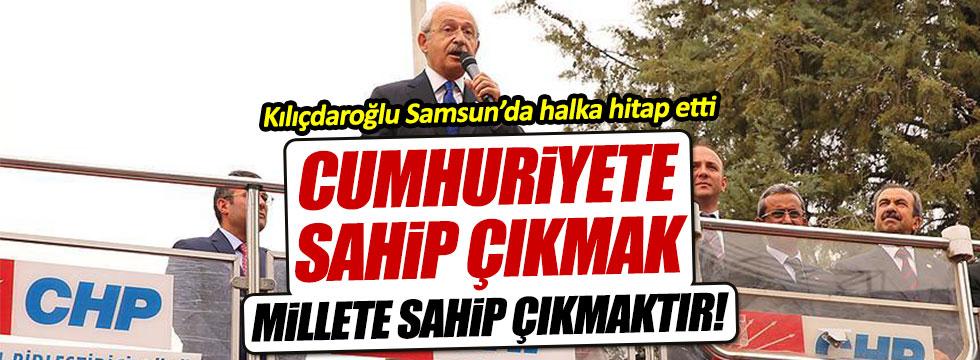 """Kılıçdaroğlu: """"Cumhuriyete sahip çıkmak, millete sahip çıkmaktır"""""""