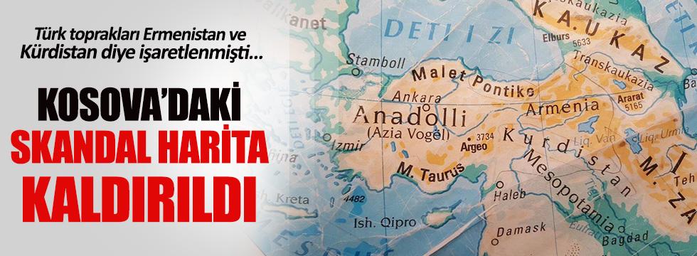 Kosova'da tepki çeken 'Türkiye haritası' okuldan kaldırıldı