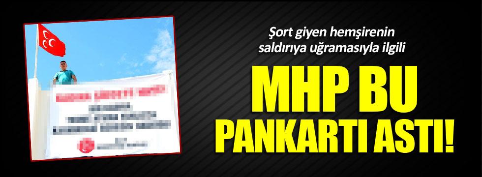 MHP Bodrum İlçe Başkanlığı'ndan Ayşegül Terzi için pankart