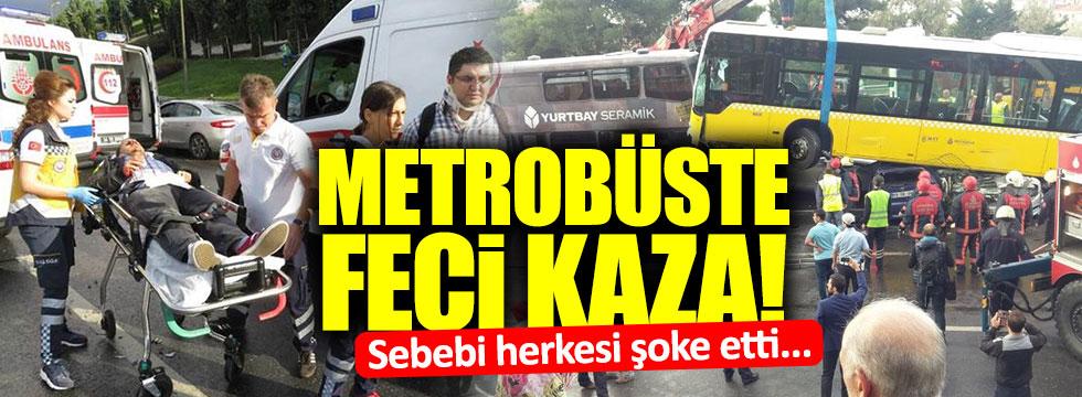 Metrobüs yoldan çıktı! Yaralılar var