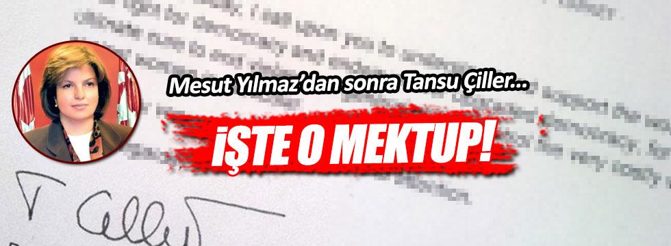 Tansu Çiller'den 15 Temmuz mektubu