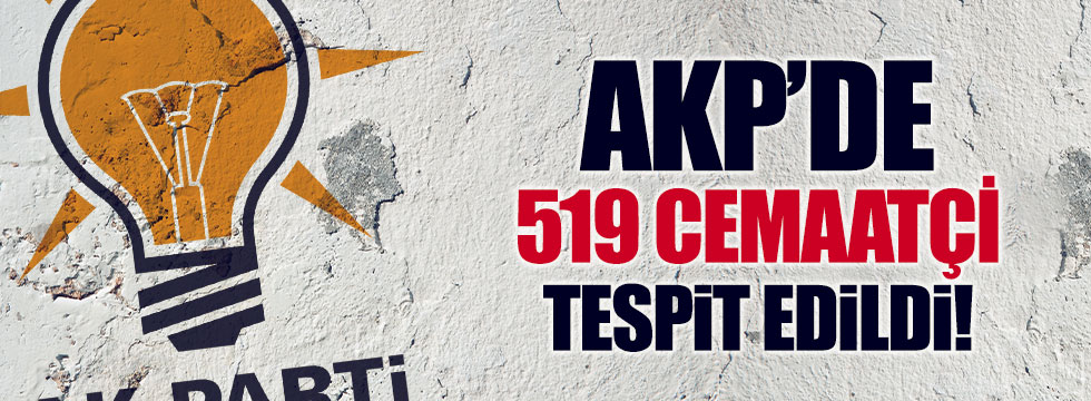 AKP'de 'cemaatçi'lerin sayısı açıklandı